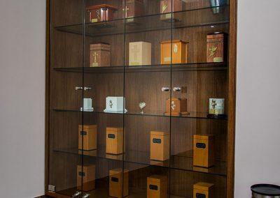 Detalle sala de exhibición